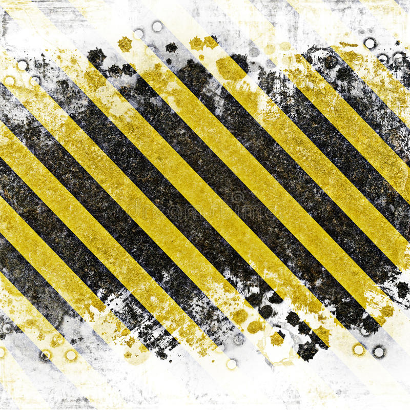 Grunge abstract background for caution or under construction illustrations royalty free illustration