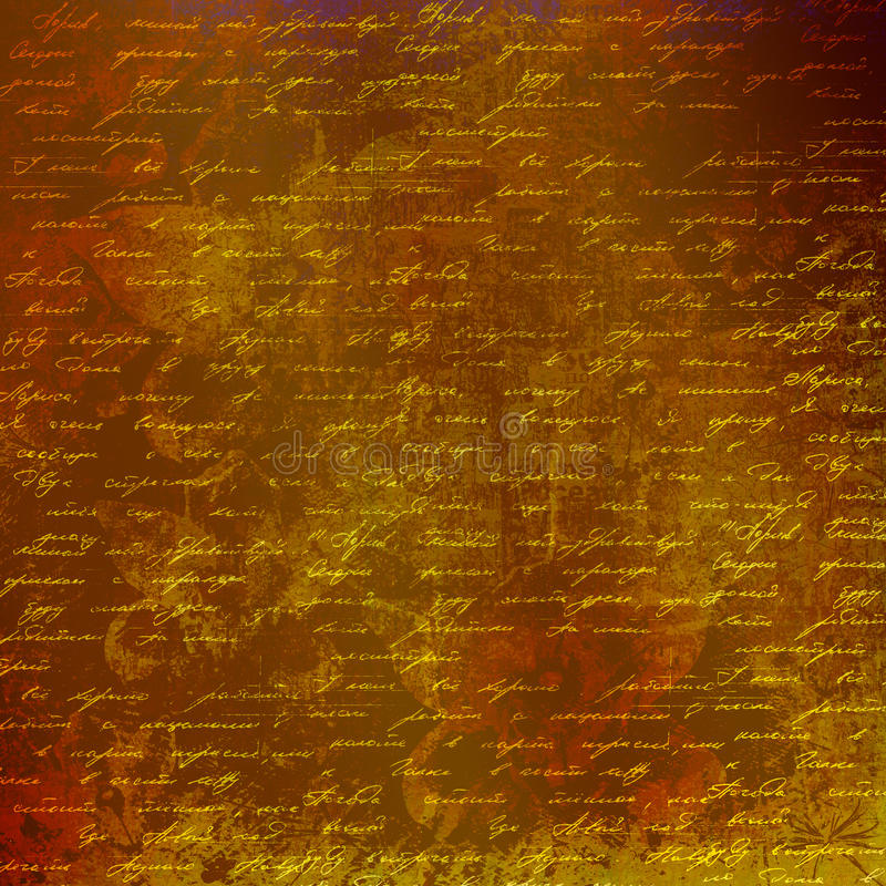 Grunge Abstract Background With Handwrite Text Stock Image