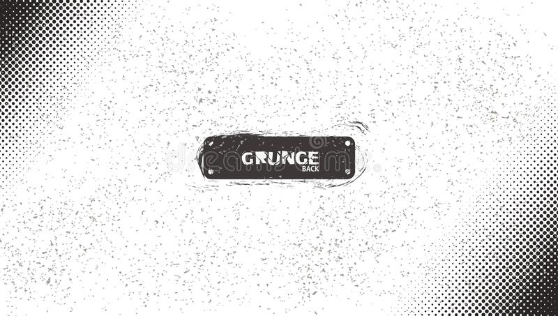 Grunge BW Halftone Grain Noise Scratch Wave. Grunge Abstract BW Halftone Grain Noise Scratch Wave Background. EPS10 Vector vector illustration