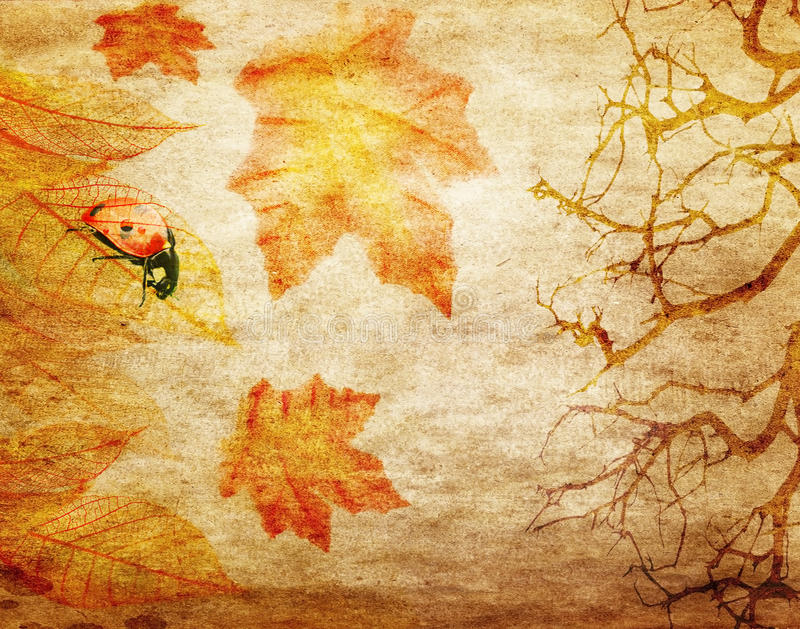 Grunge abstract fall background vector illustration