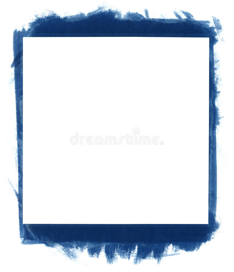 Grunge abstract frame. Blue grunge abstract watercolour frame with space for your text or image. All elements painted by me royalty free stock photo
