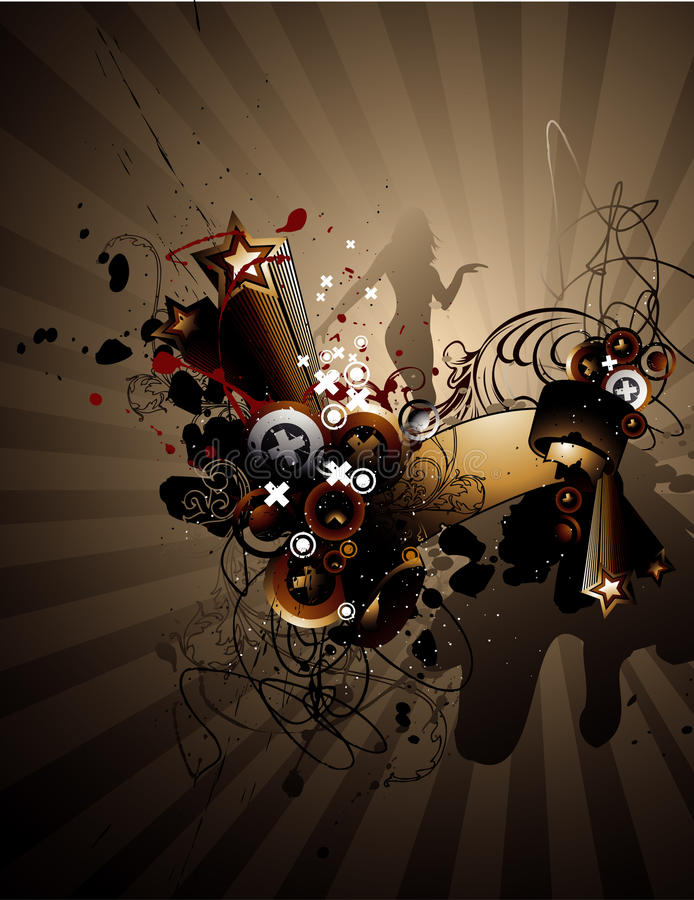 Free Grunge Abstract Illustration Royalty Free Stock Images - 9629859