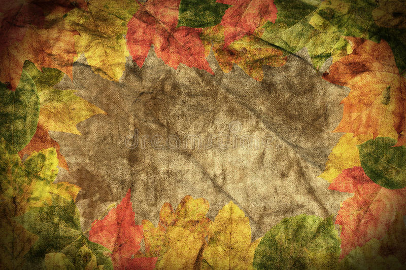 Grunge abstract old frame stock image