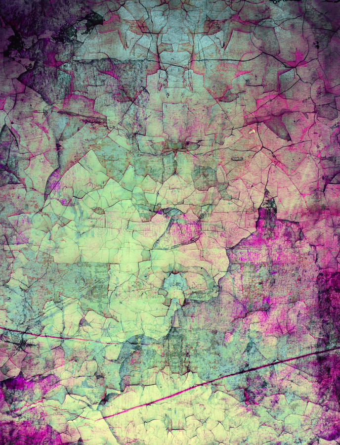 Grunge abstract textured mixed media collage, art vector illustration