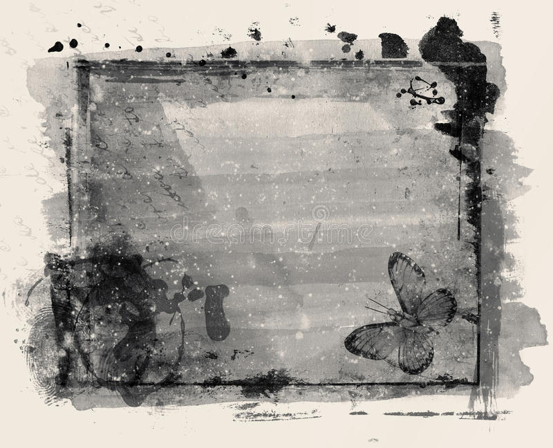 Grunge abstracte bloemenachtergrond - collage vector illustratie
