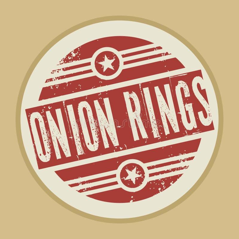Grunge abstracte uitstekende zegel met de Ringen van de tekstui stock illustratie