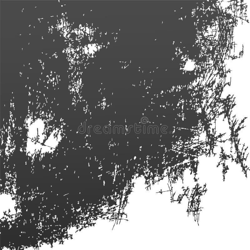 Grunge abstracte zwarte, slordige, gekraste achtergrond Vector royalty-vrije illustratie