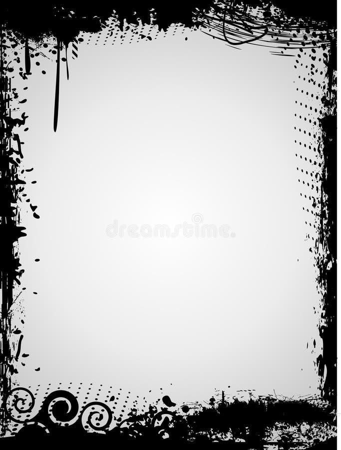 grunge abstrakcjonistyczna ramowa ilustracja royalty ilustracja