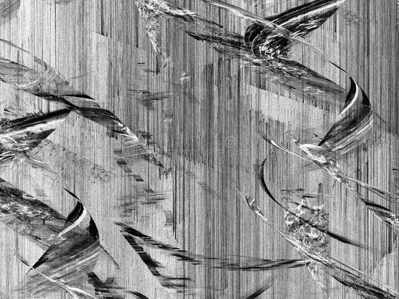 Grunge abstrakcjonistyczny czarny biały tło fotografia stock