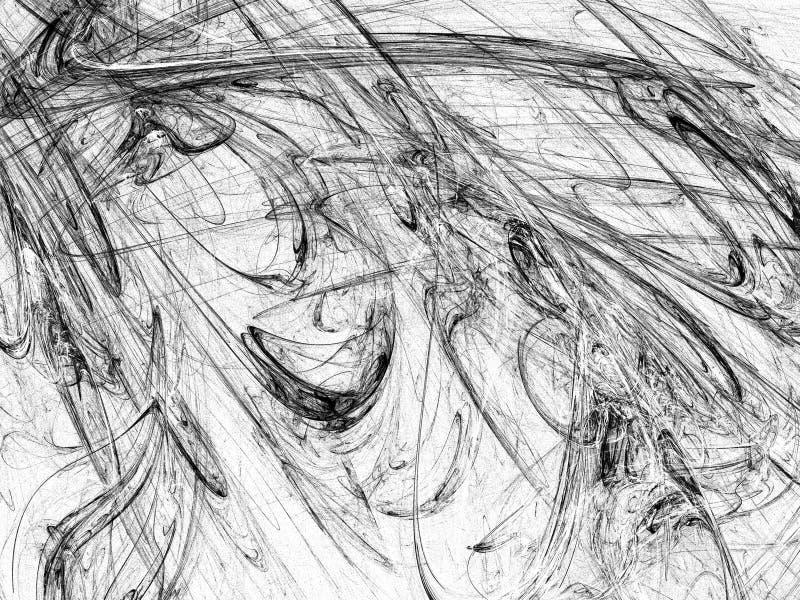 Grunge abstrakcjonistyczny czarny biały tło zdjęcia stock