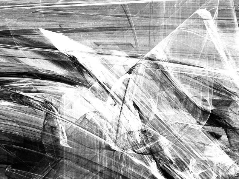 Grunge abstrakcjonistyczny czarny biały tło obrazy royalty free