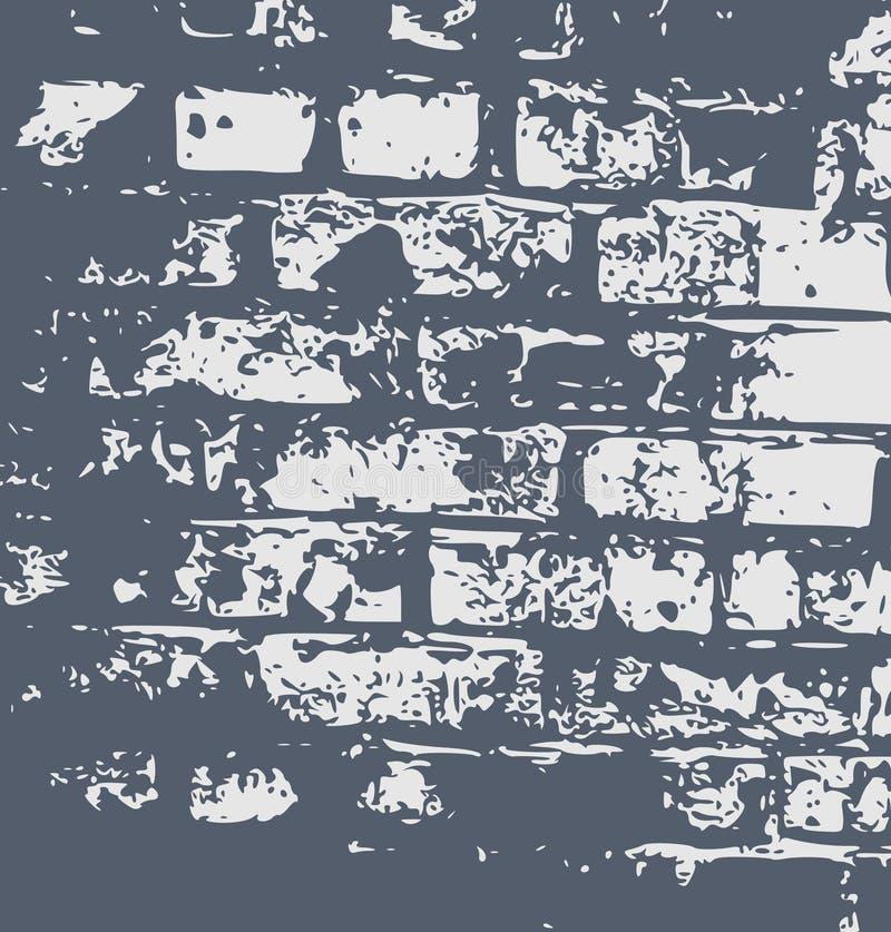 grunge abstrakcyjna ściana wzoru ilustracja wektor