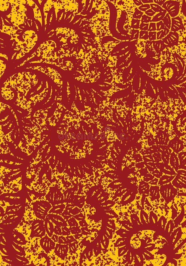 Grunge abstrakter dekorativer mit Blumenhintergrund, Vektorillustratio lizenzfreie abbildung