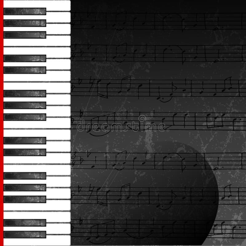 Grunge abstrakter Hintergrund mit Klaviertasten lizenzfreie abbildung