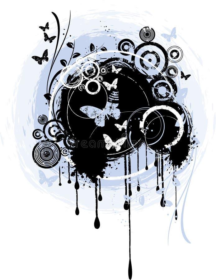 Grunge abstrato ilustração stock