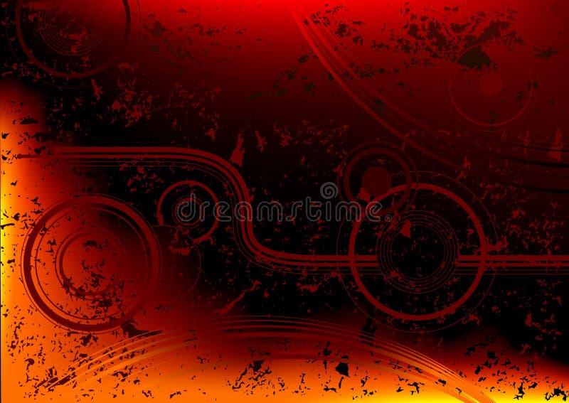 Grunge abstrato do incêndio ilustração do vetor