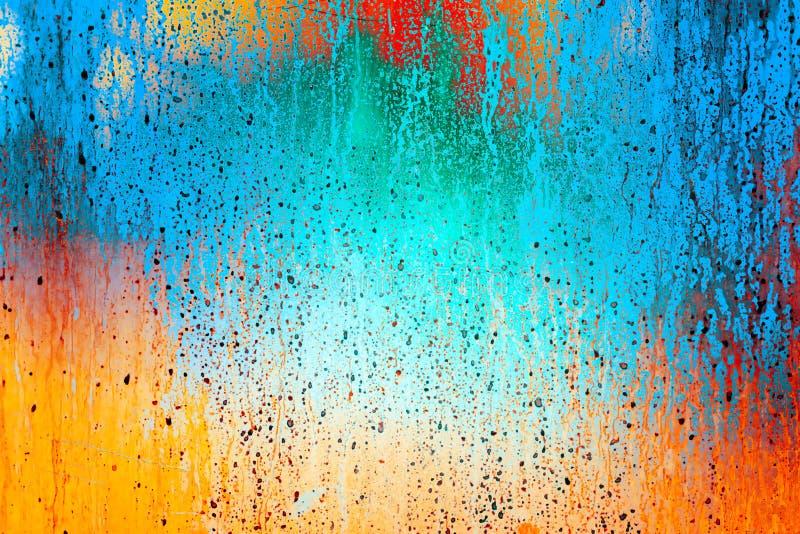 Grunge achtergrond abstract kleurenbehang voor ontwerp stock foto