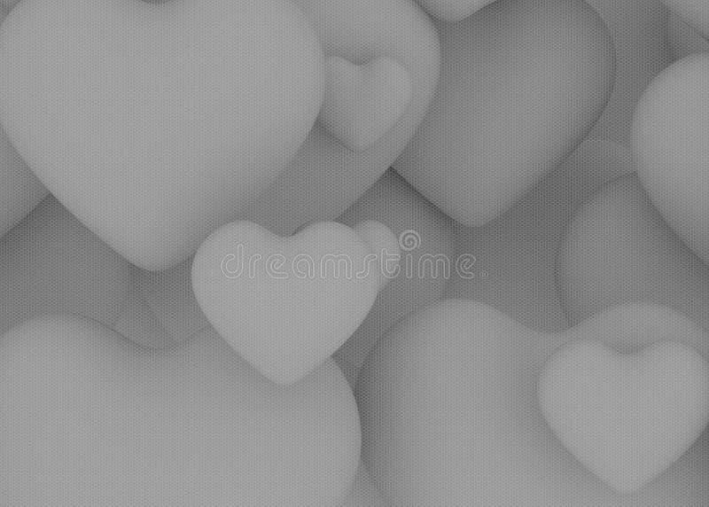 Grunge achtergrond withwhite hart royalty-vrije stock foto