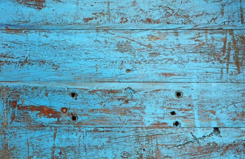 Grunge achtergrondtextuur van blauw geschilderd hout royalty-vrije stock foto