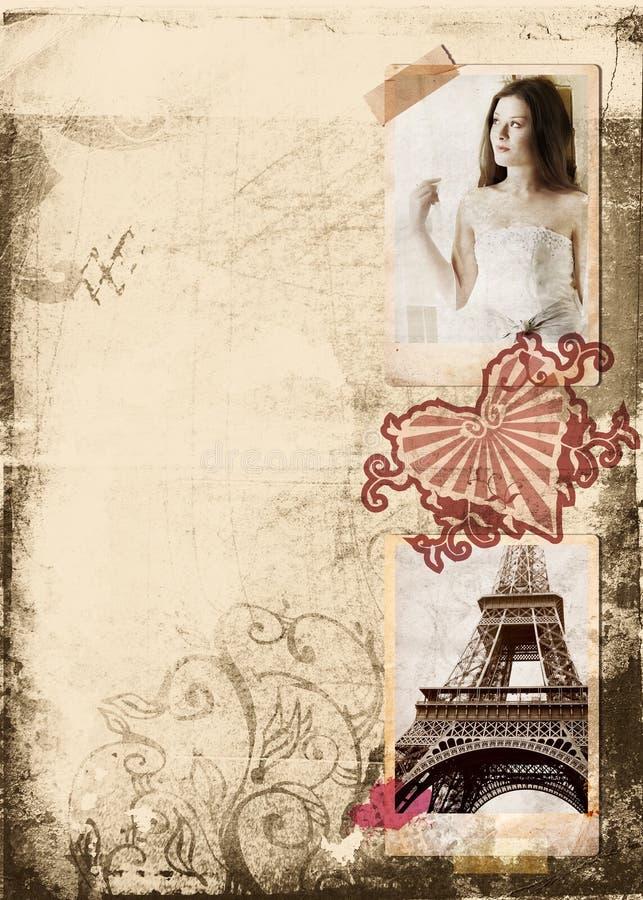 Grunge Album-Brautseite lizenzfreies stockbild