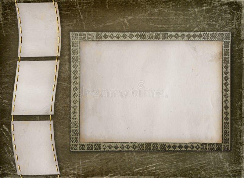 Grunge Album mit dekorativem Feld für Fotos vektor abbildung