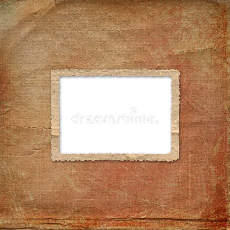 Grunge alienou o frame do papel velho fotos de stock royalty free