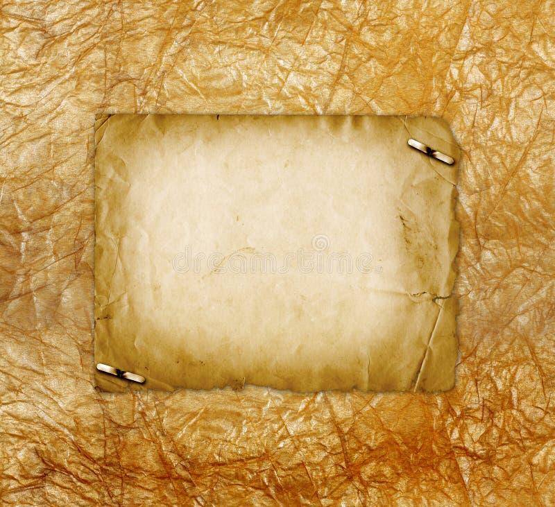 Grunge alienujący papierowy projekt w scrapbooking stylu zdjęcie stock