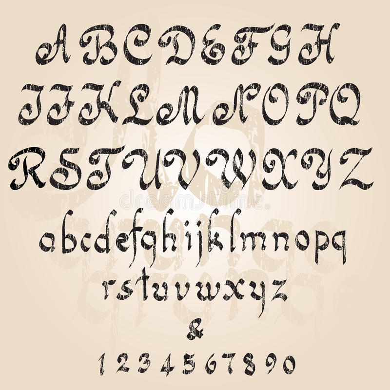 Grunge Alphabet Royalty Free Stock Photos
