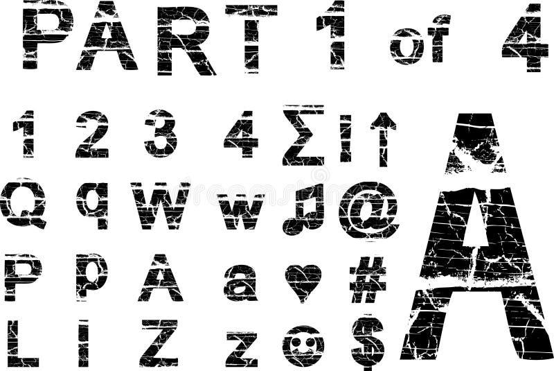 grunge alphabet stock image