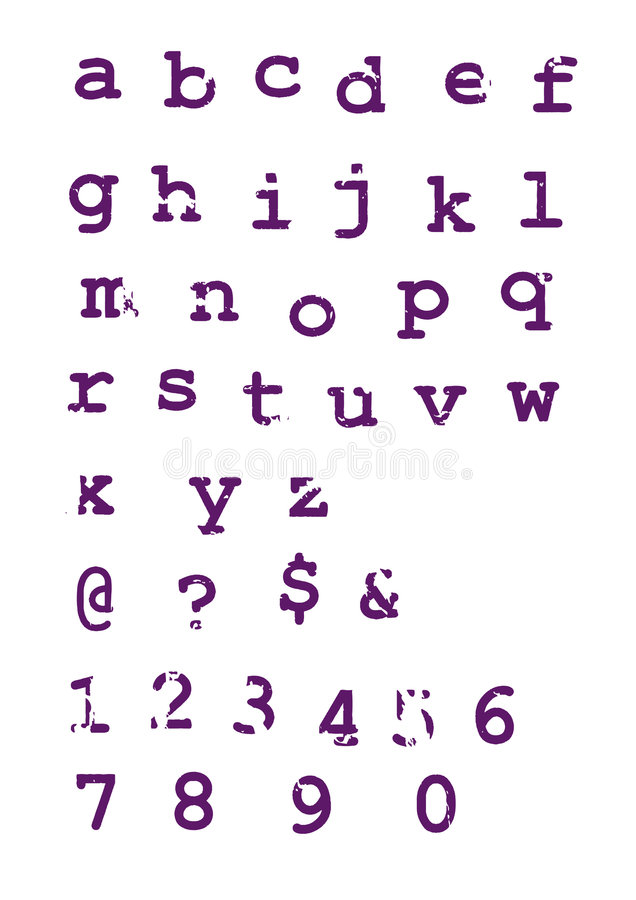 Grunge alphabet typographic letters vector illustration