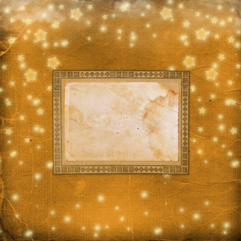 Grunge alte Abdeckung mit Sternen vektor abbildung