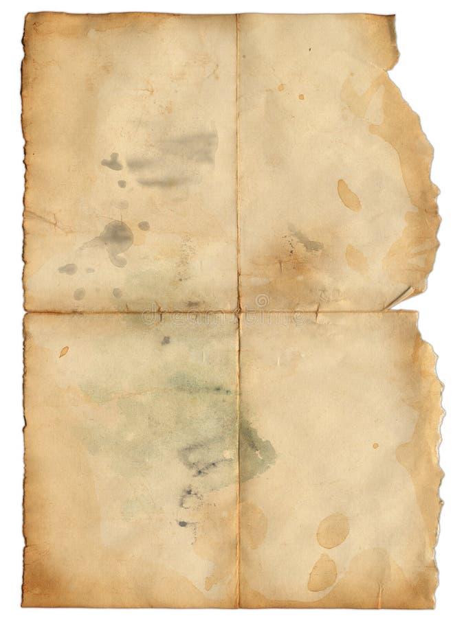 Grunge altes Papier mit Punkt für das Desing stock abbildung