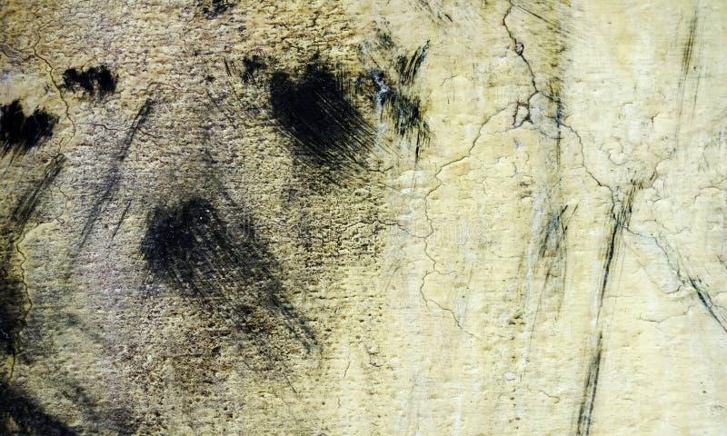 Grunge amarillo, textura blanco y negro de la pared del movimiento del cepillo del fondo concreto del piso para el extracto de la fotos de archivo