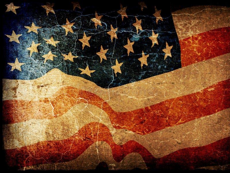 Grunge american flag. Grunge american patriotic theme background vector illustration
