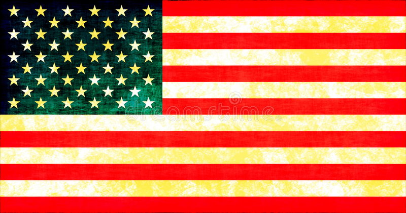 Grunge American Flag. Texture as a Background vector illustration