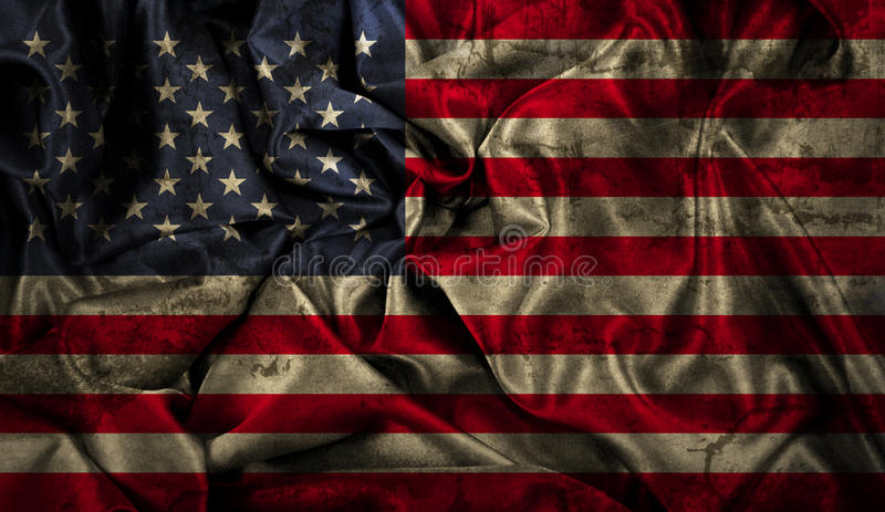 Grunge American flag background vector illustration