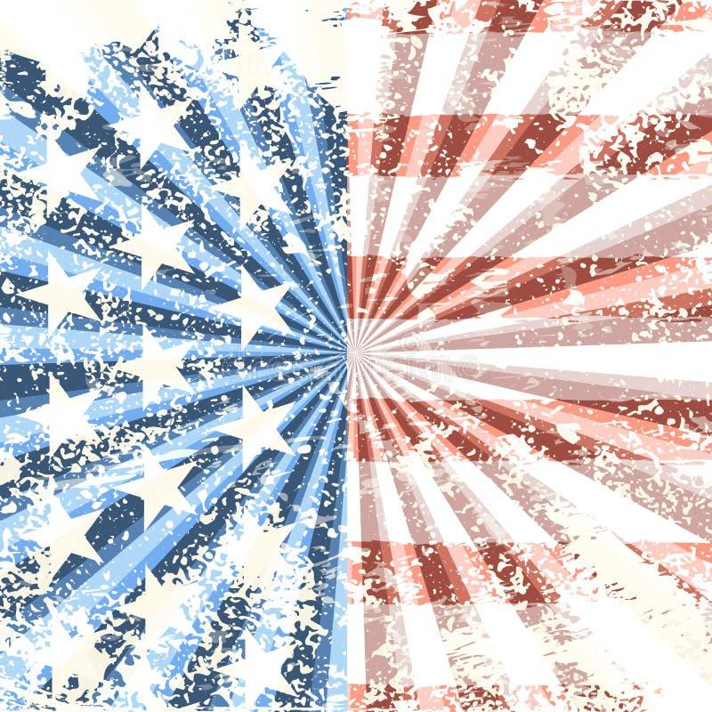 Grunge American flag background. Vector illustration. EPS 10 royalty free illustration