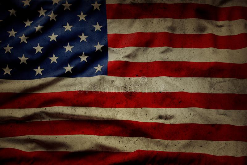 Grunge American flag stock images