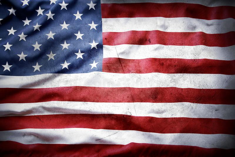 Grunge American flag royalty free stock photos