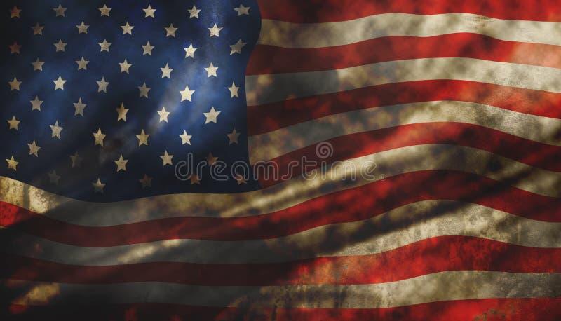 Grunge american flag texture background. For design work vector illustration