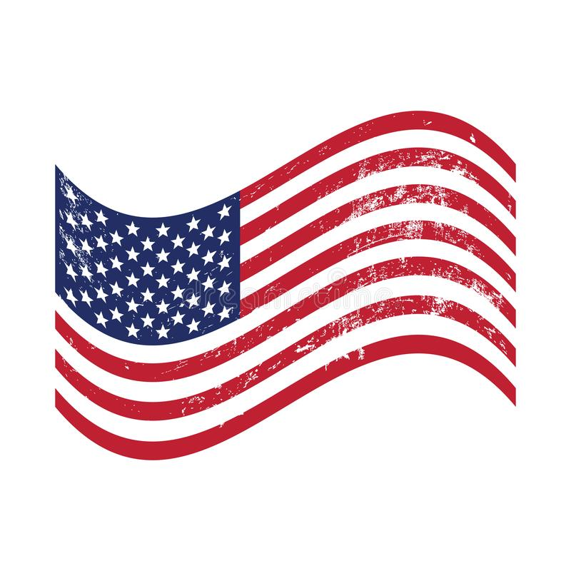 Grunge American flag waving. EPS file available. see more images related vector illustration