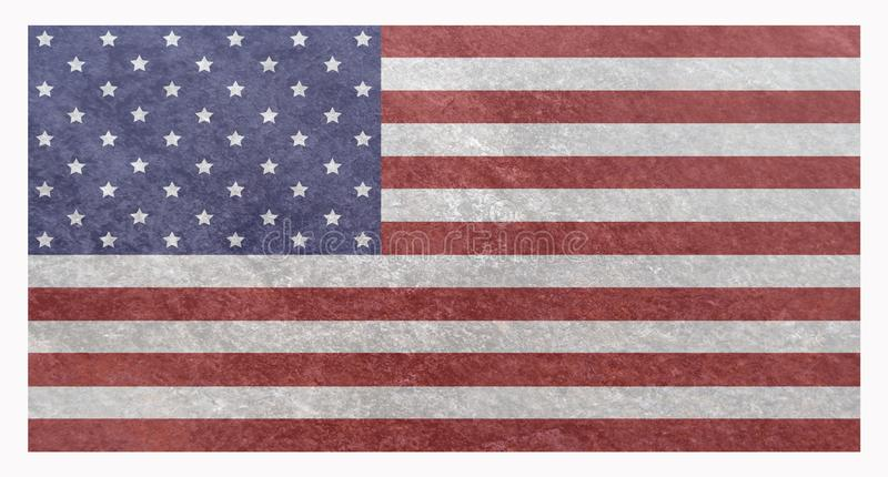 Grunge American US National Flag royalty free illustration