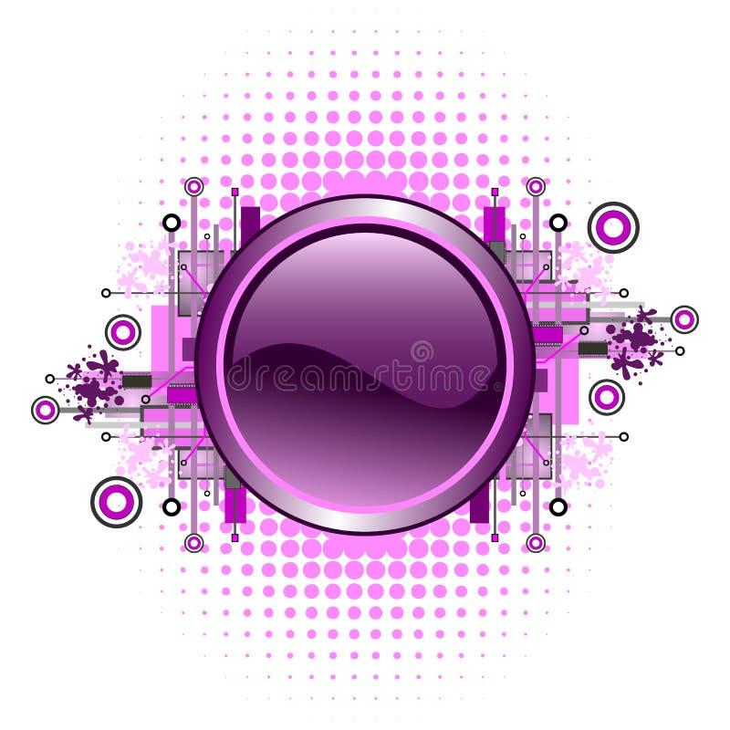 Grunge & tecla alta tecnologia do vetor. ilustração royalty free