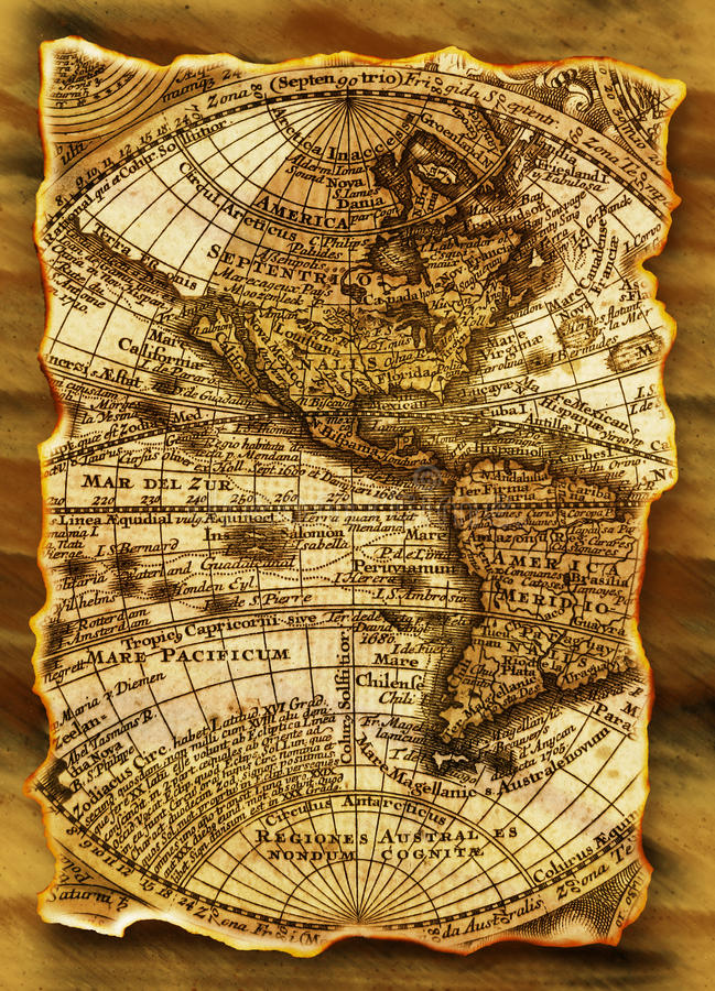 Grunge ancient map royalty free stock images