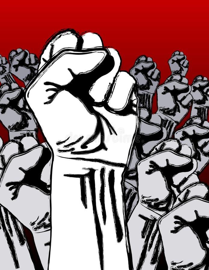 Grunge Antikriegsumdrehung lizenzfreie abbildung