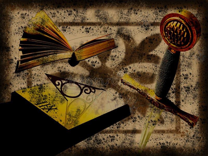 grunge antykwarski czas ilustracja wektor