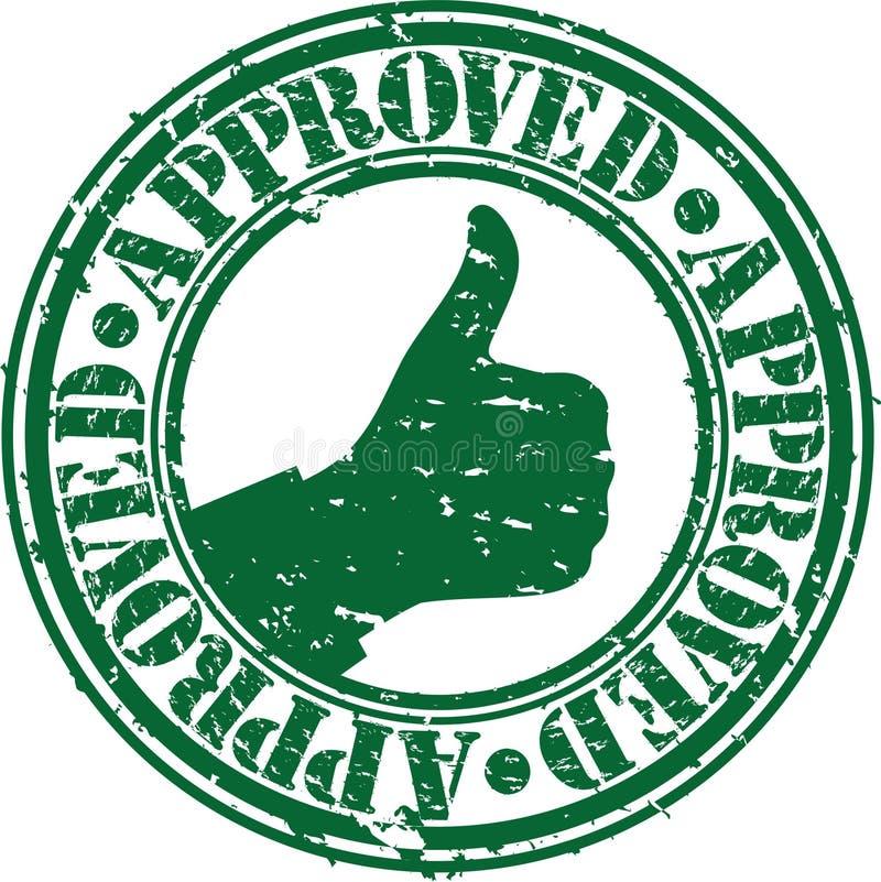 Grunge approved rubber stamp stock illustration