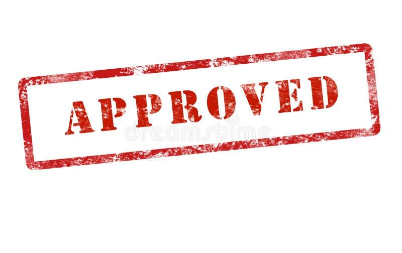 Grunge aprobado de la marca del sello imagen de archivo
