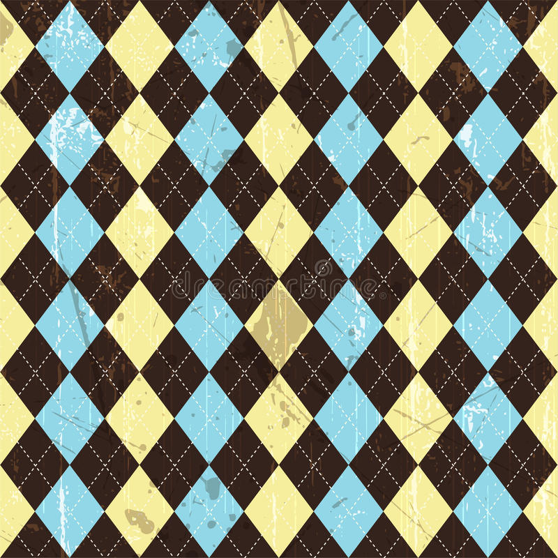Grunge argyle Hintergrund vektor abbildung