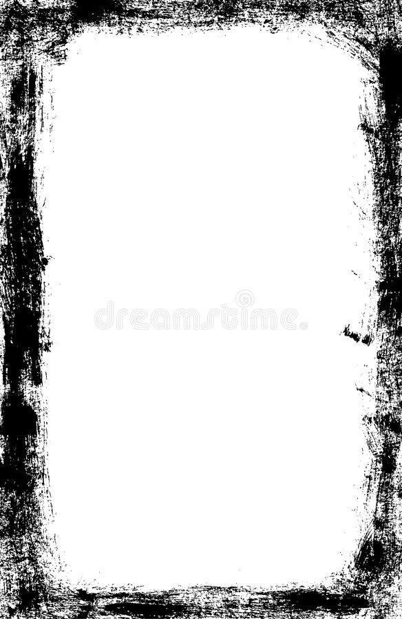 Grunge arrastou o vetor da beira ilustração stock